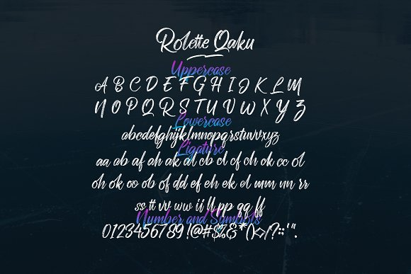 Rollete Qaku Fonts