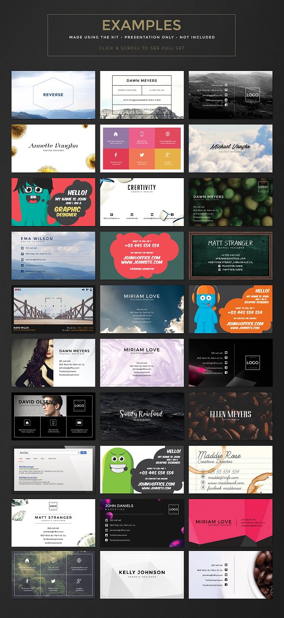 Business Card Creation Kit