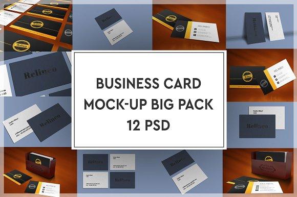 Business Card Mock-up Bigpack