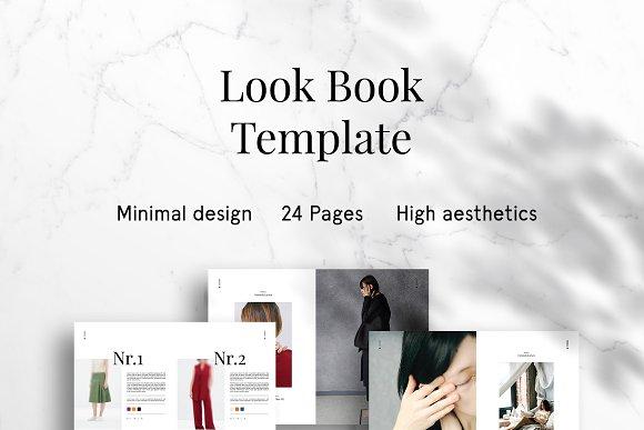 دانلود فایل لایه باز مجله فشن lookbook minimal fashion template