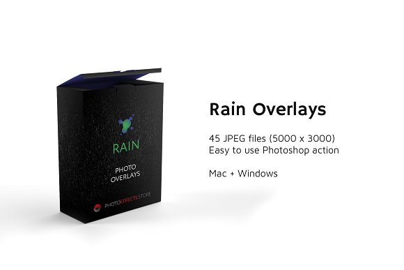 45 Rain Photo Overlays