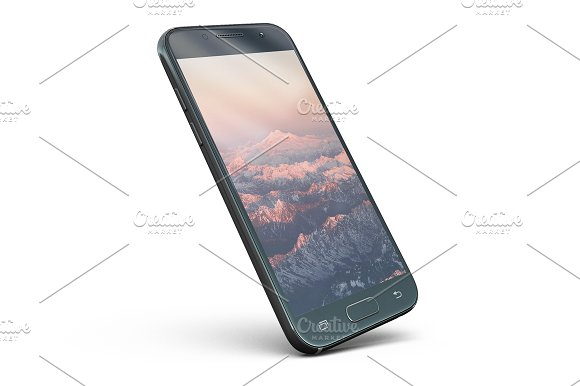 Samsung Galaxy A3 2017 App Skin Mock