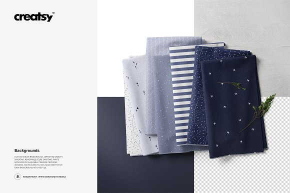 Fabric Stack Mockup 06/FF v.6