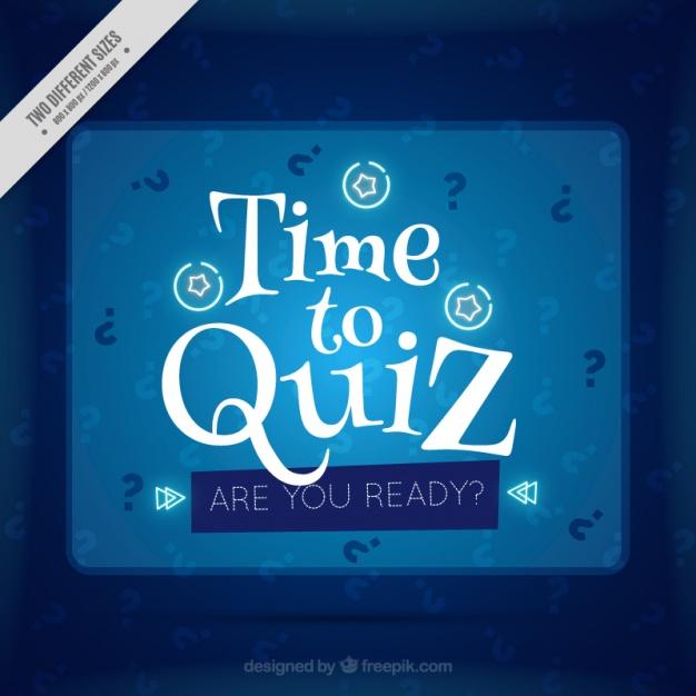 Blue Quiz Background With White Details