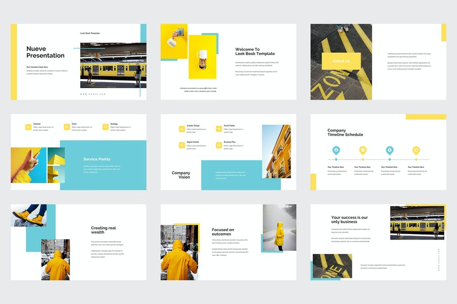Nueve - Yellow Tone Business Powerpoint