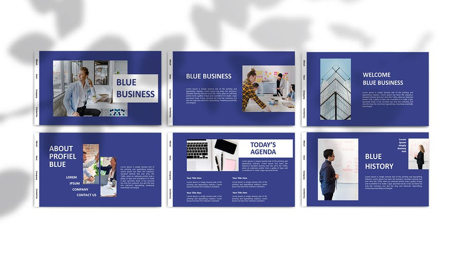BLUE BUSINESS - Powerpoint Template