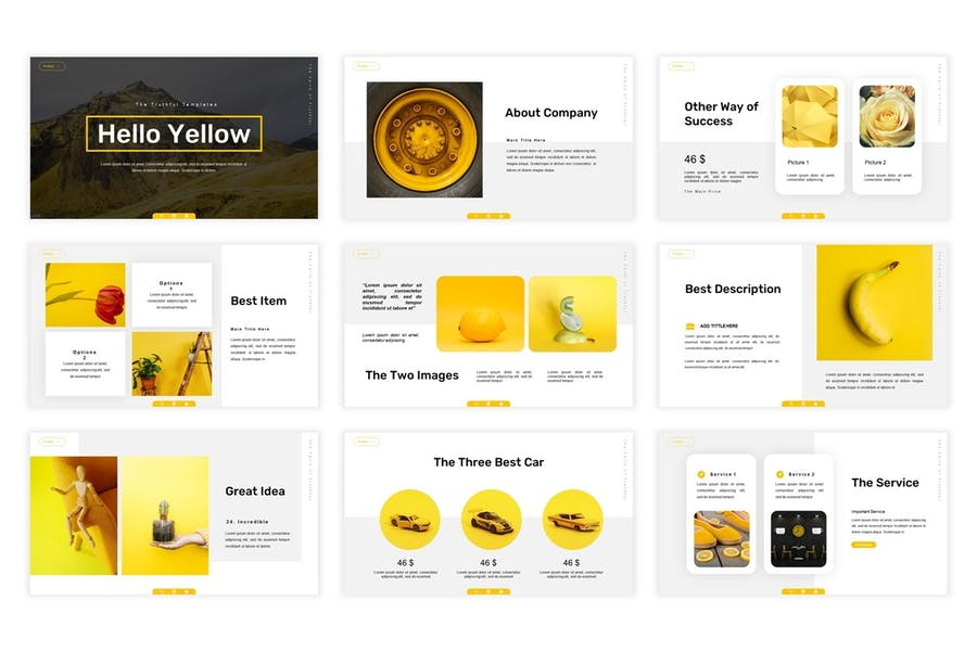 Hello Yellow - Powerpoint Template