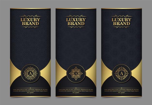 Luxury Business Card And Vintage Ornament Logo Template. Retro Elegant Flourishes Ornamental Frame Design