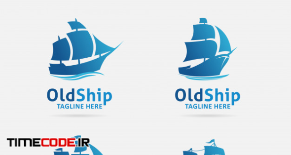 Collection Of Old Ship Logo Design