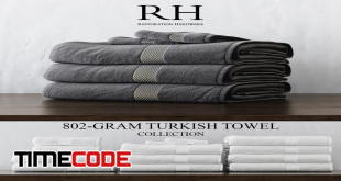 دانلود مدل آماده سه بعدی حوله Rh 802 Gram Turkish Towel Collection