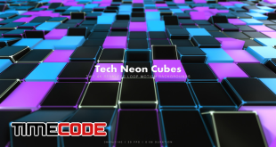 Tech Neon Cubes 2