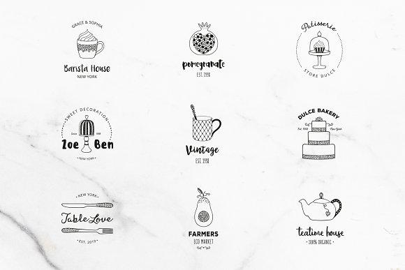 DELICIOUS Premade Logo Set