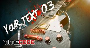 Rock Guitar Text Opener