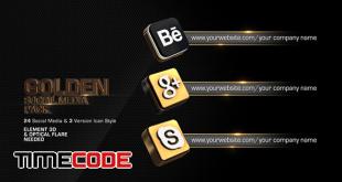 Golden Social Media Pack