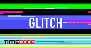 Colored Lines Glitch Background