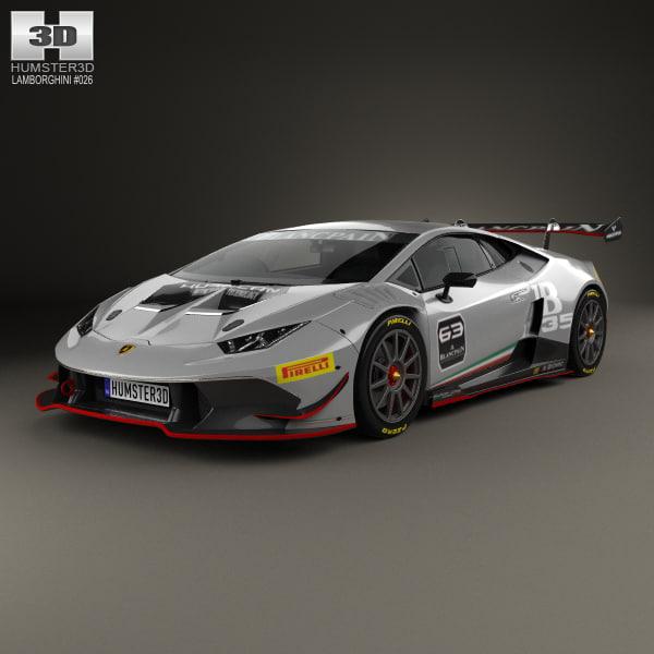 3D Lamborghini Huracan (LP 620-2) Super Trofeo 2014