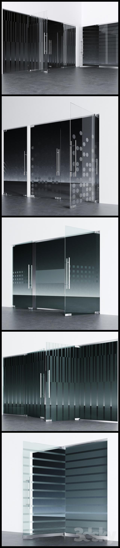 Swinging pendulum glass doors for office and home 2 _ corona - vray