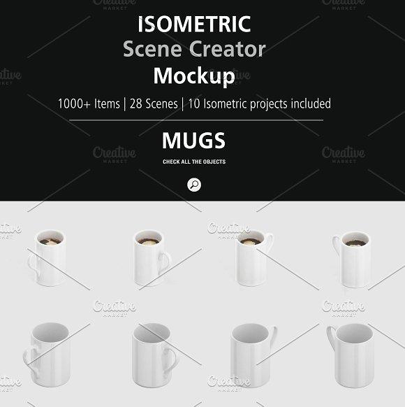 Isometric Scene Creator Mockup