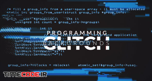 Programming Glitch Backgrounds Pack