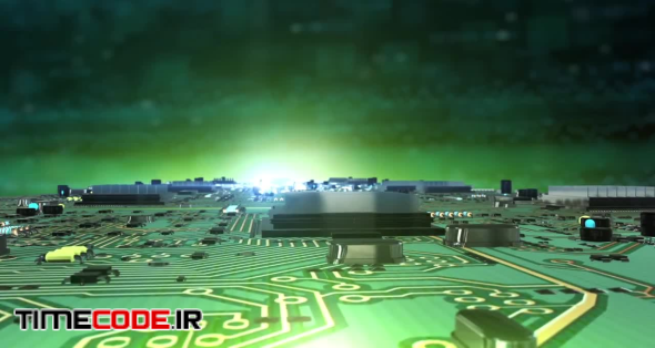 Circuit Board City Background