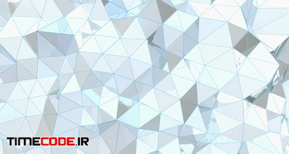 White Metal Low-Poly Background