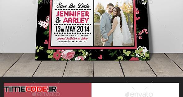 Shabby Chic Wedding Invitation Post Card Vol.3