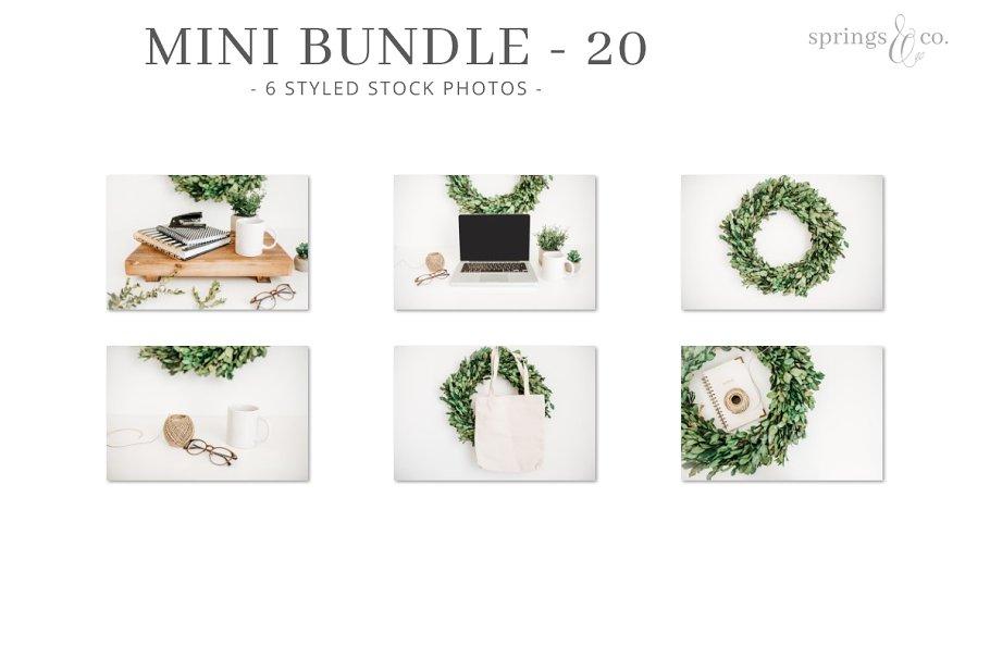 Greenery Wreath Mini Photo Bundle 20