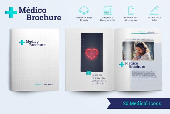 Médico Brochure Template