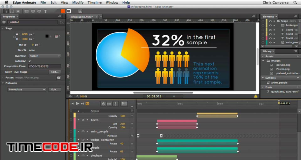 Creating an Animated Infographic with Edge Animate