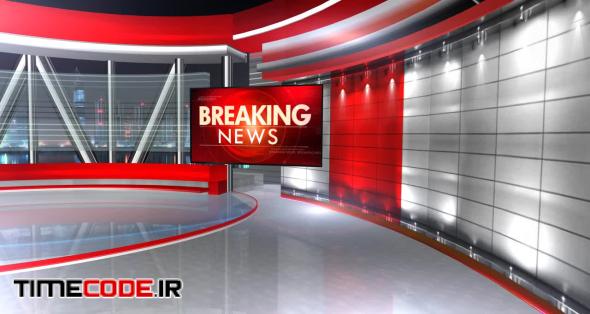 Breaking News Virtual Set 3