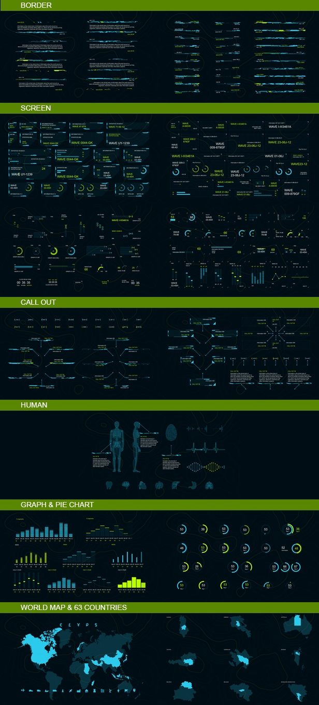 Infographics HUD set 3