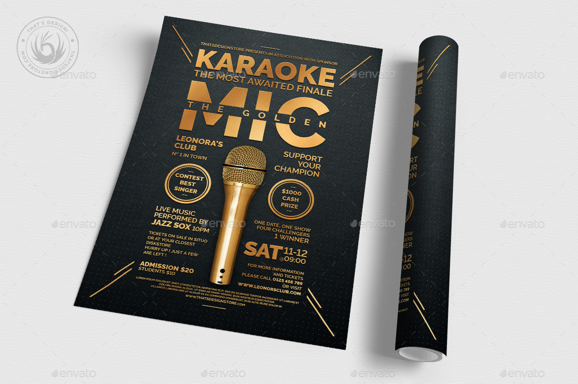 Karaoke Flyer Template V8