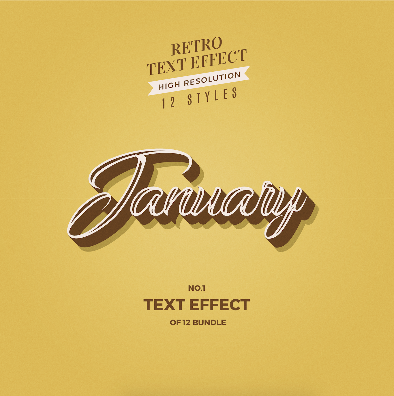 Months Of The Year Retro Text Effects