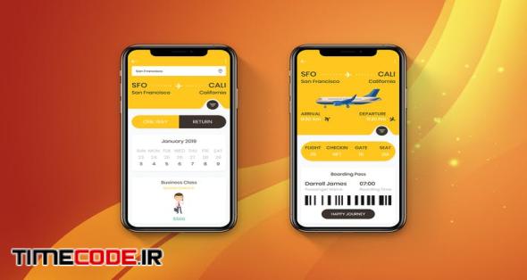 Flight Booking Mobile Ui - H