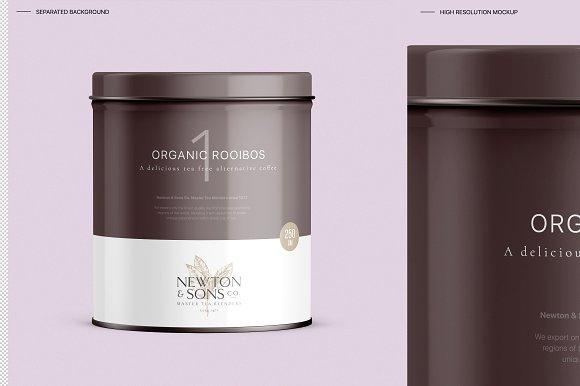 Coffee Tin Box Mockup
