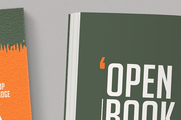 Open Softcover Book Mockup