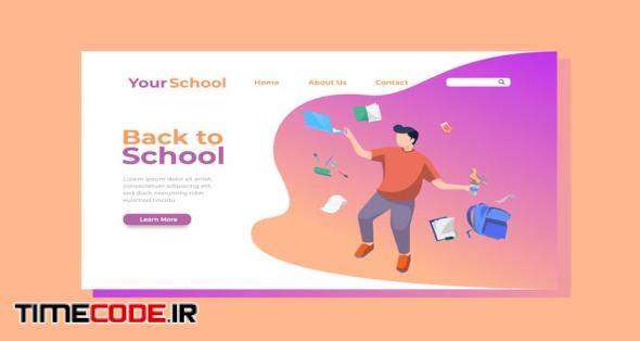 Back to School Landing Page Illustration