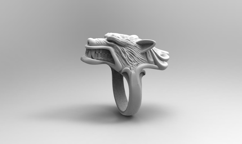 WereWolf ring 3D print model