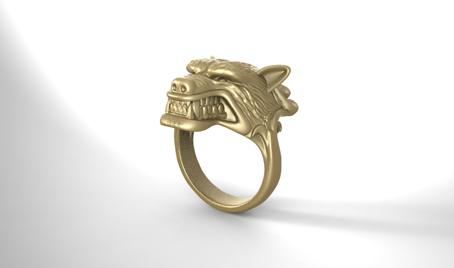 WereWolf ring 3D print model