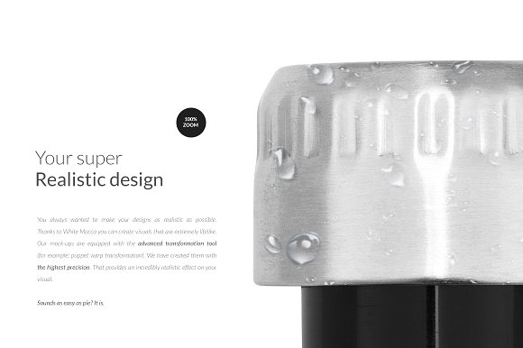Stainless Steel Water Bottle Mockup