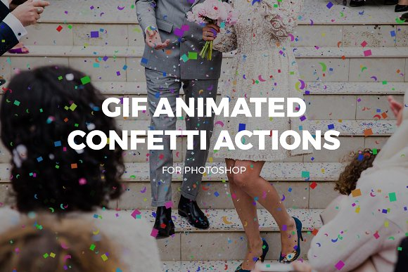 Gif Animated Confetti Actions