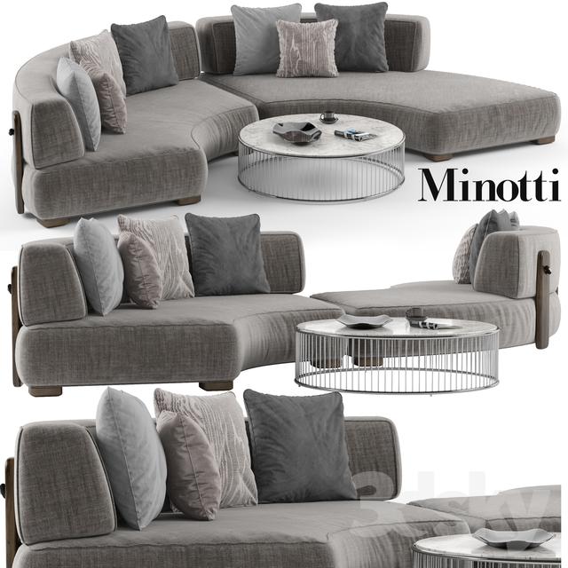 Minotti Florida Sofa Set 1