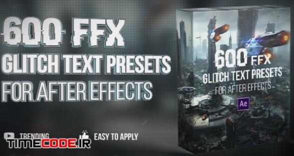 600 Glitch Text Presets