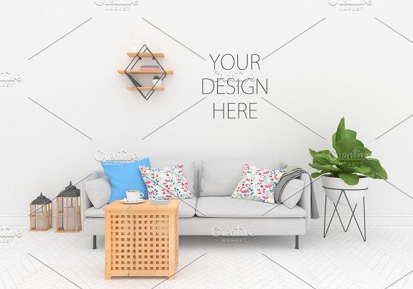 Blank Wall Mock Up - Interior Mockup