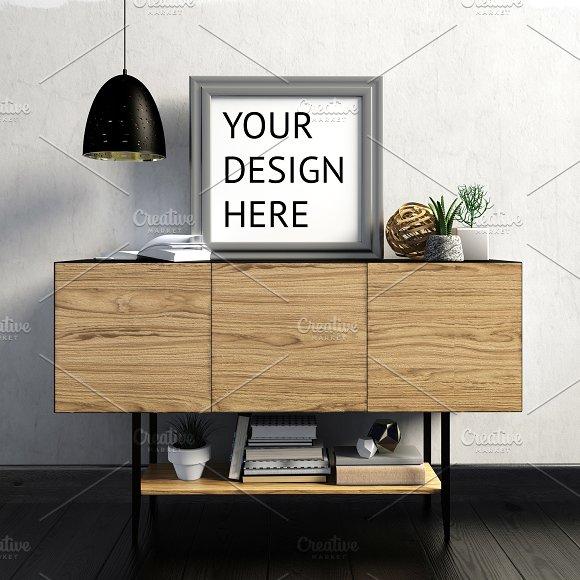 9 Mock Up Poster Frame In Interior