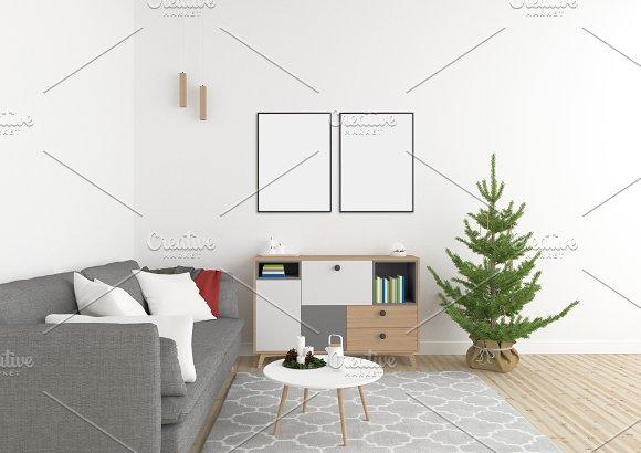 Xmas Interior - Wall Gallery Mockup