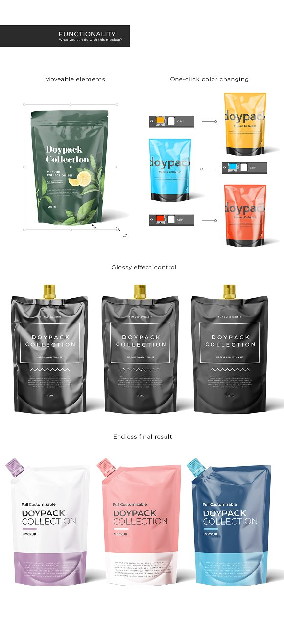 Doypack Mockup Collection