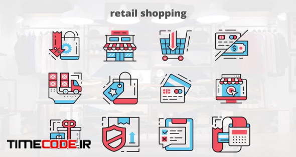 Retail Shopping – Flat Animation Icons