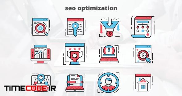 SEO Optimization - Flat Animation Icons