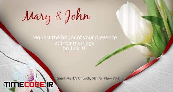 Wedding Ecards Invitation: دانلود پروژه آماده افترافکت : کارت دعوت عروسی Wedding